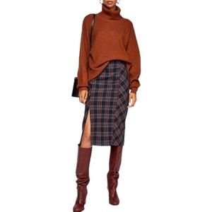 NWT Free People See You Glow Skirt Plaid size 0